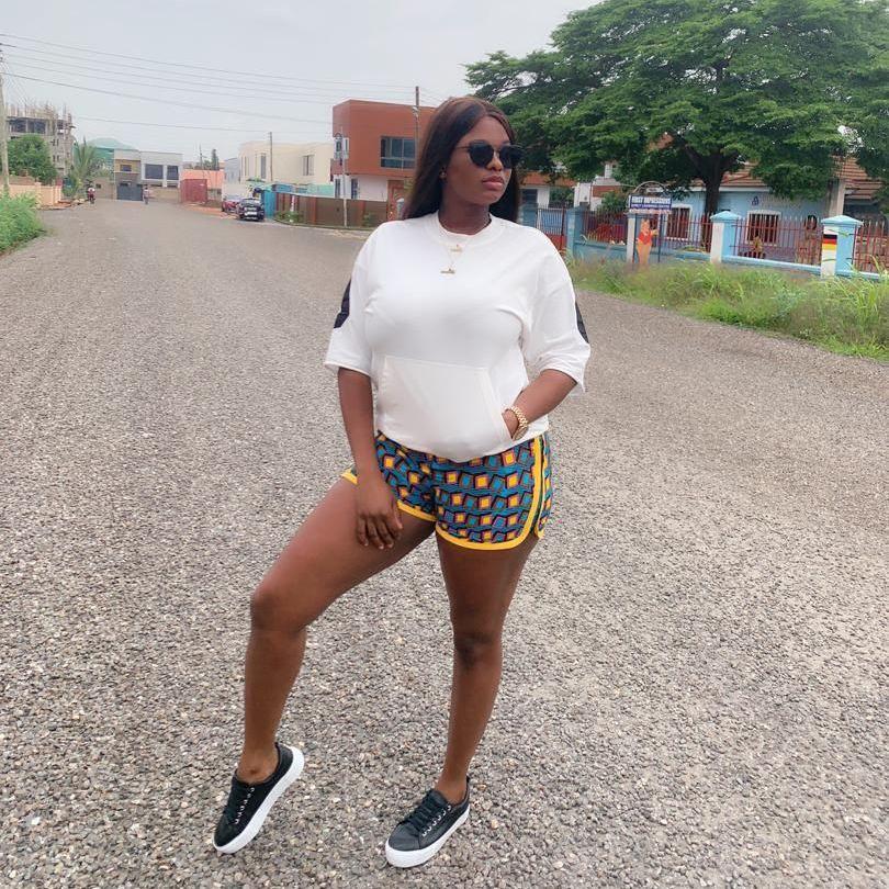Ladies  Africa Print Shorts / Pink Squares