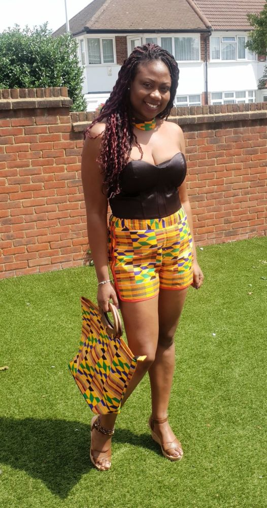 Ladies Africa Print Shorts / Kente