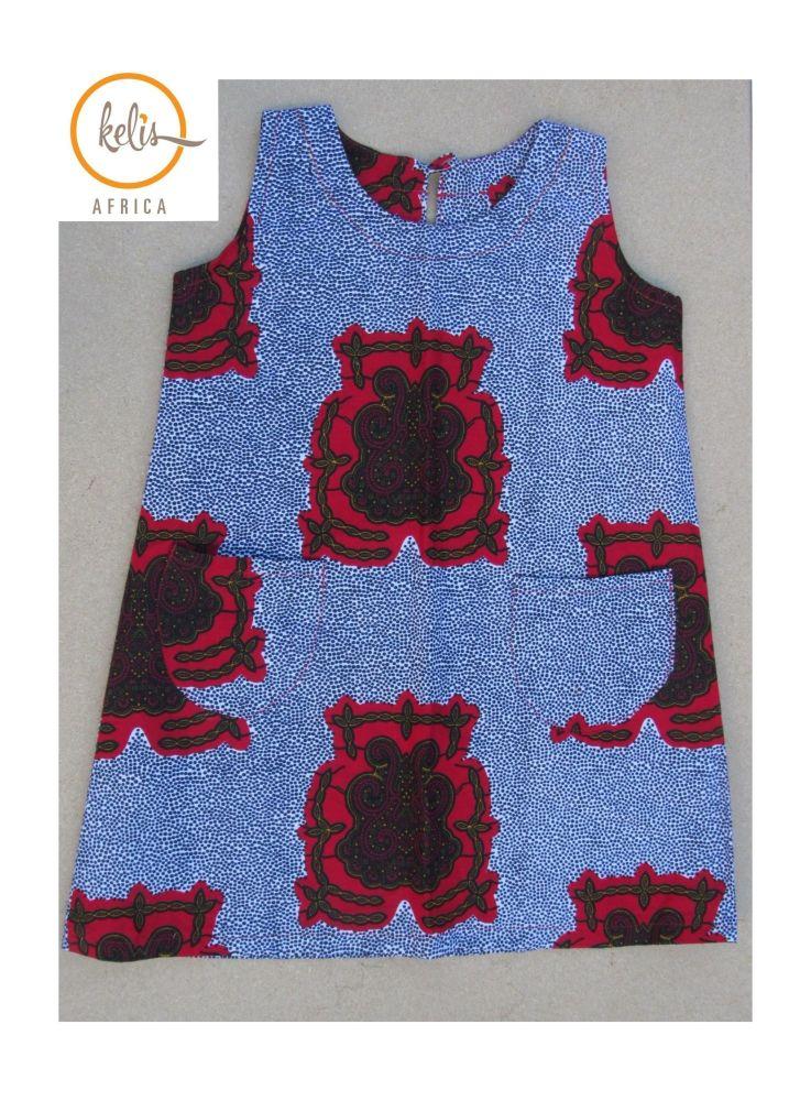 Little Girl's Dress  Sleeveless  Dress / Royal Rose