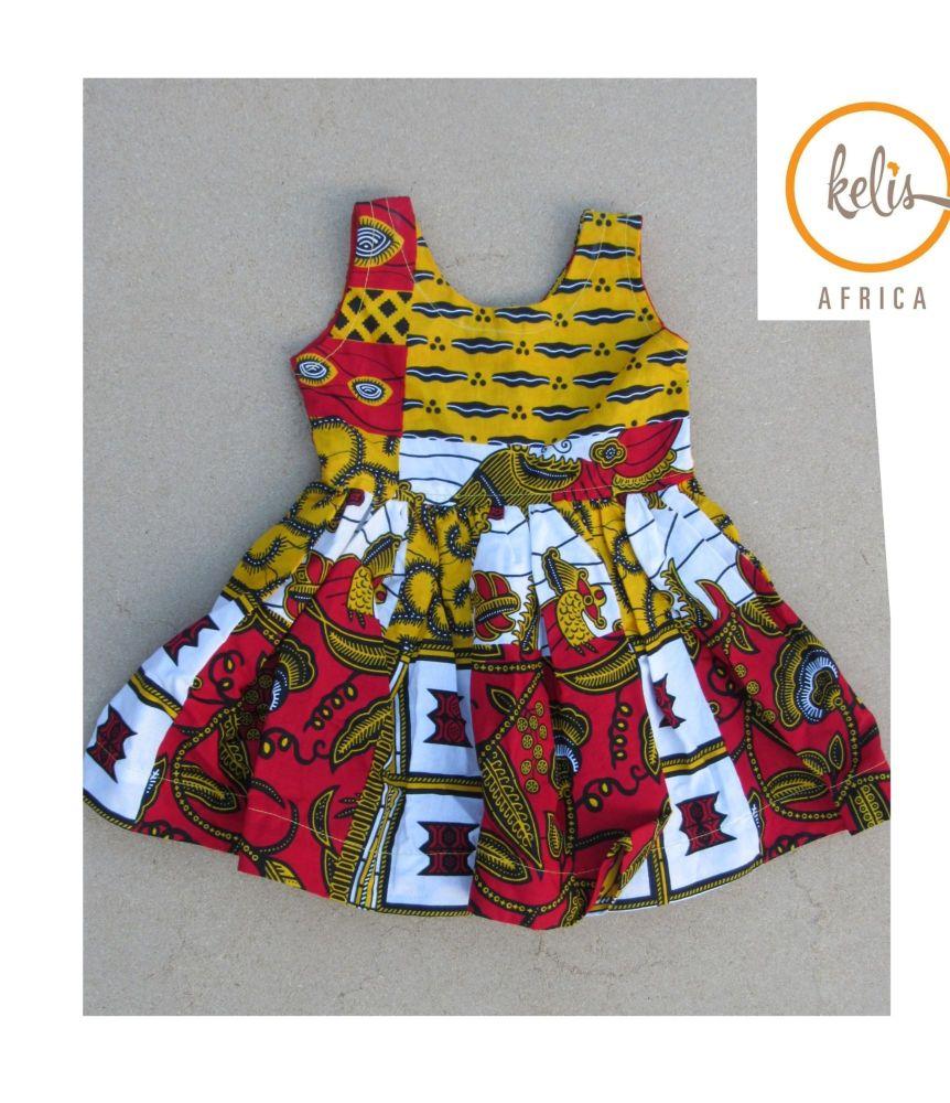 Girls African Print Dress   / Kuay Sleeveless
