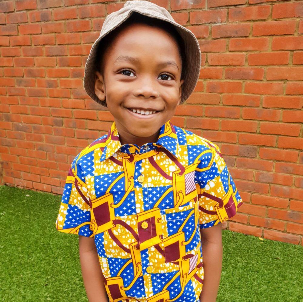 African Print Shirt/ Links