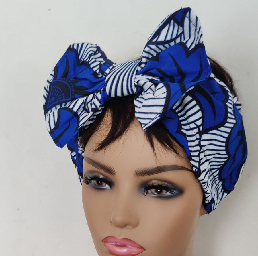 African Print Bow Head bands/