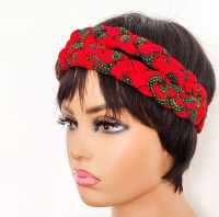African Print Head bands/  Red Roni