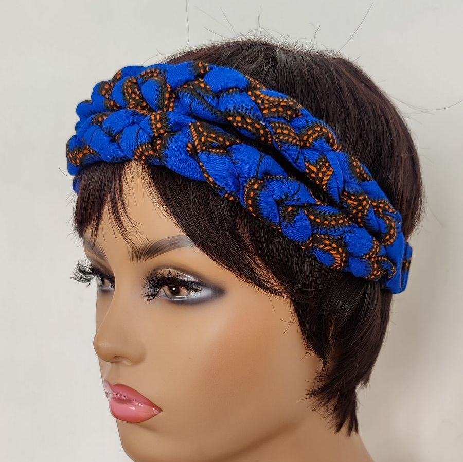 African Print Head bands/  Blue Roni