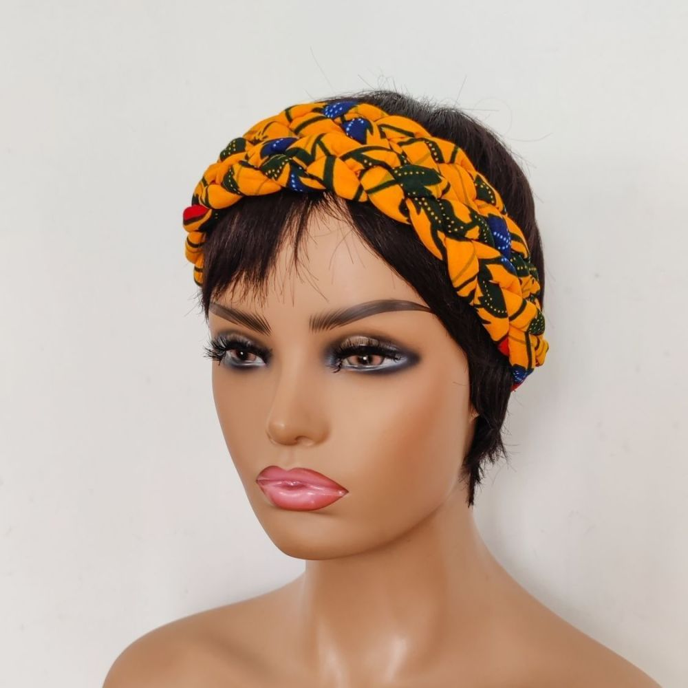 African Print Head bands/  Yellow Bloom