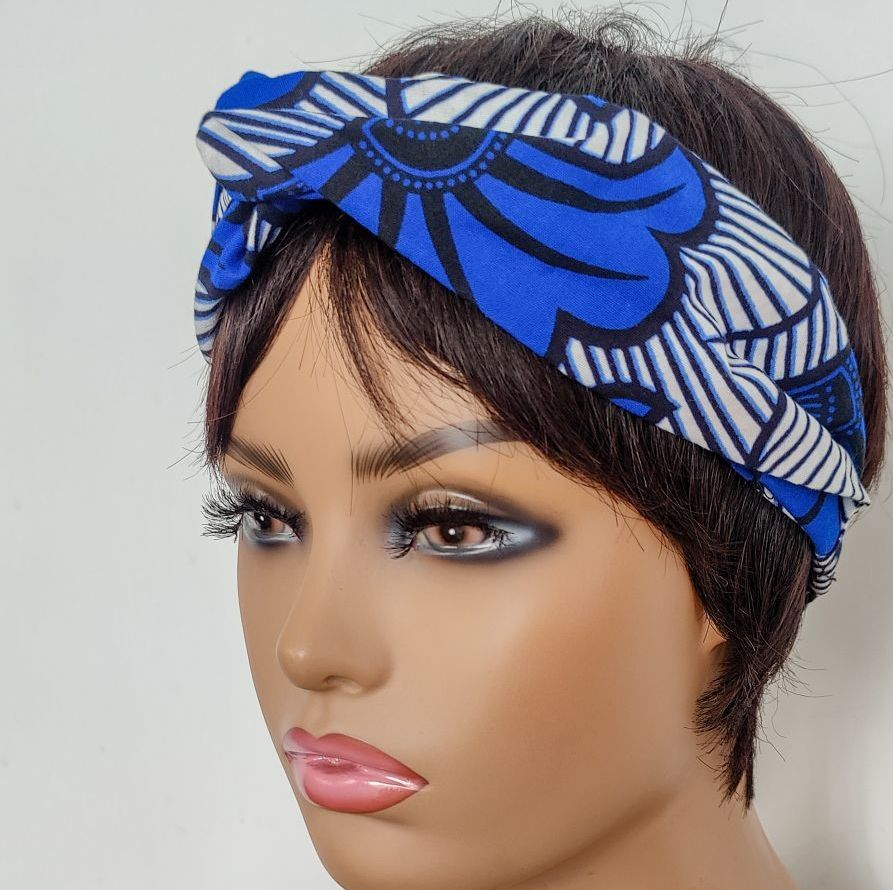 African Print Twisted Head bands/  Mud Cloth