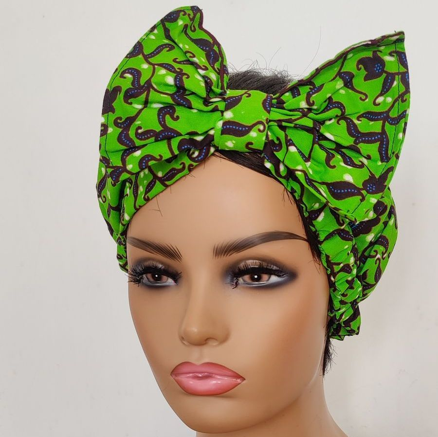 African Print Bow Head bands/  Gboma