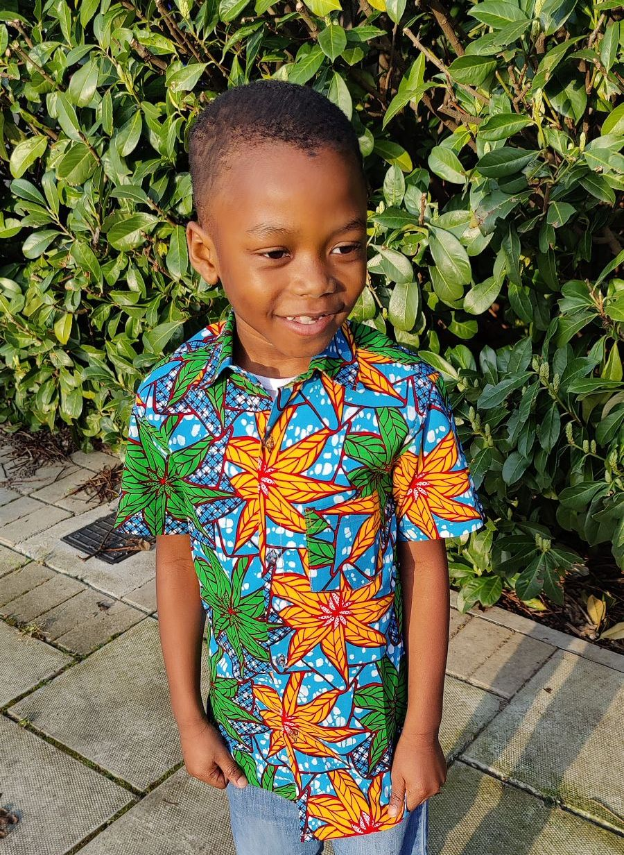 African Print Shirt/ Kingston