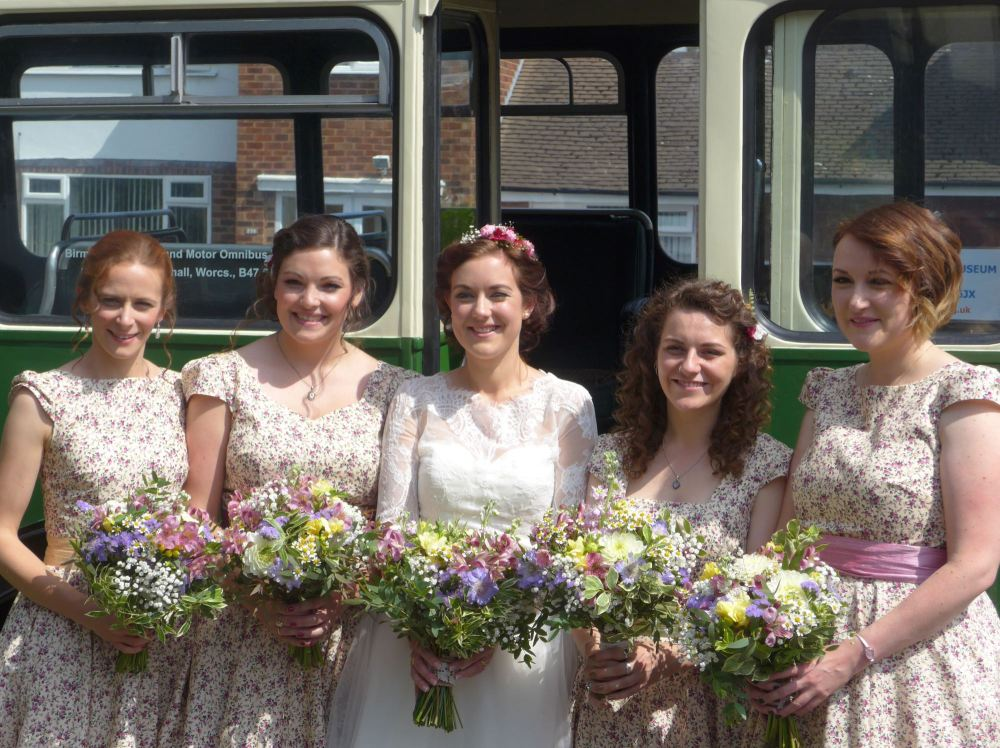 Custom bridesmaids dresses by Ryley and Flynn Vintage