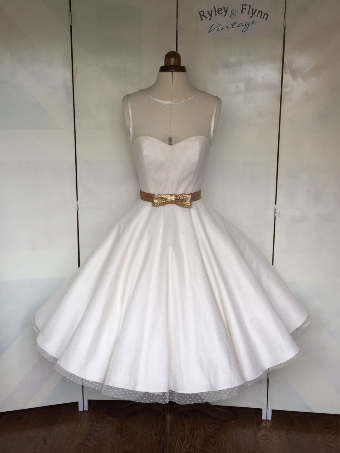 Dotty wedding Dress by Ryley and Flynn Vintage