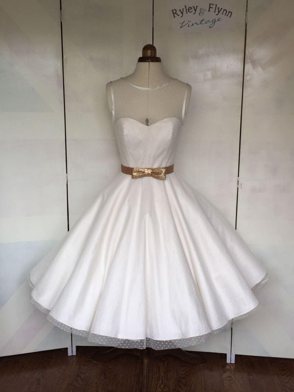 Dotty wedding Dress by Ryley and Flynn Vintage