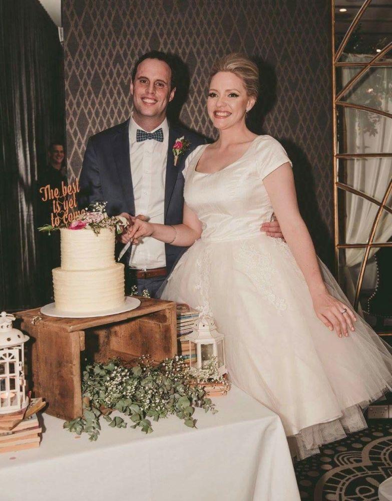 Betsy Silk Tea Length Wedding DRess