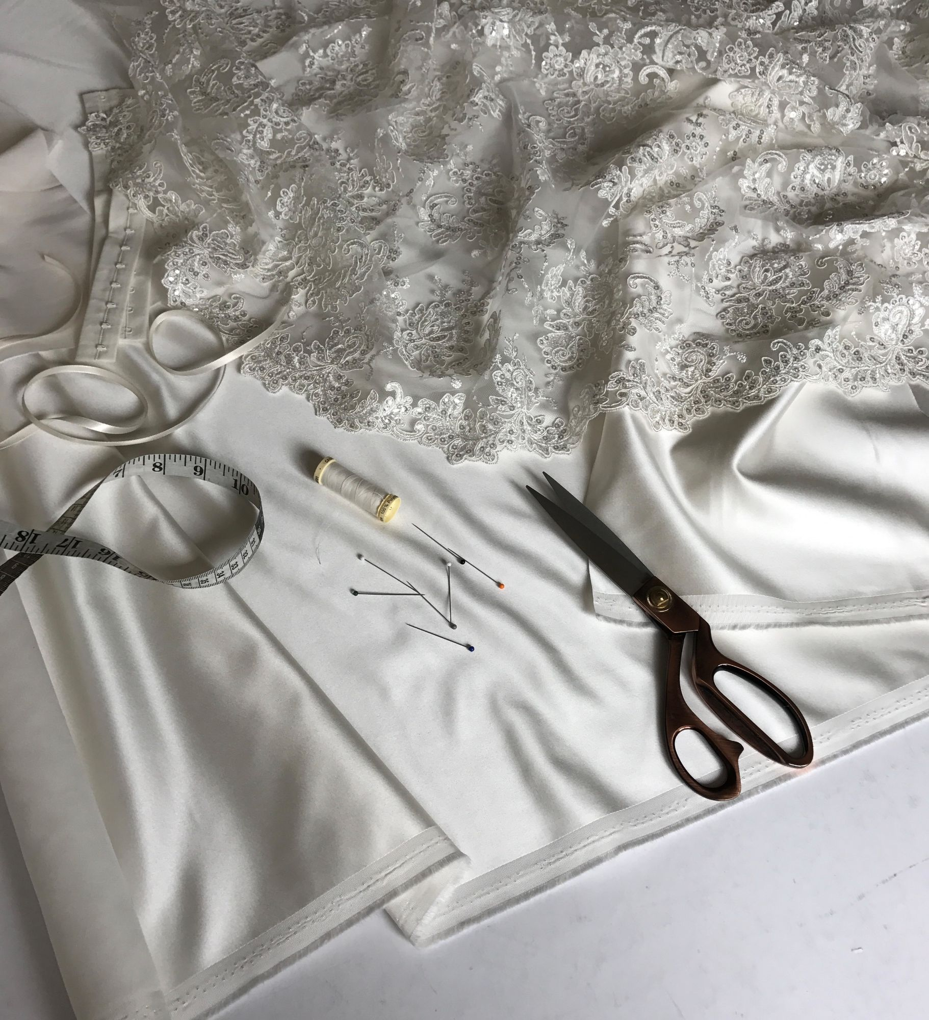 bespoke bridal fabric