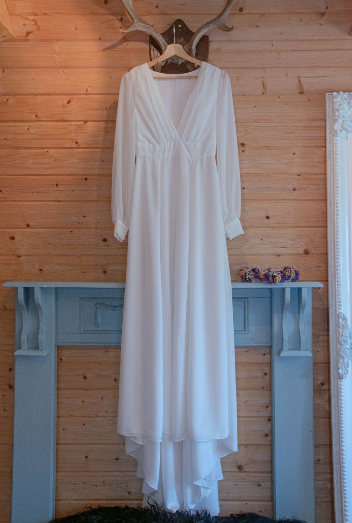Handmade wedding dresses, boho wedding dress, alternative wedding dress, long sleeve wedding dress