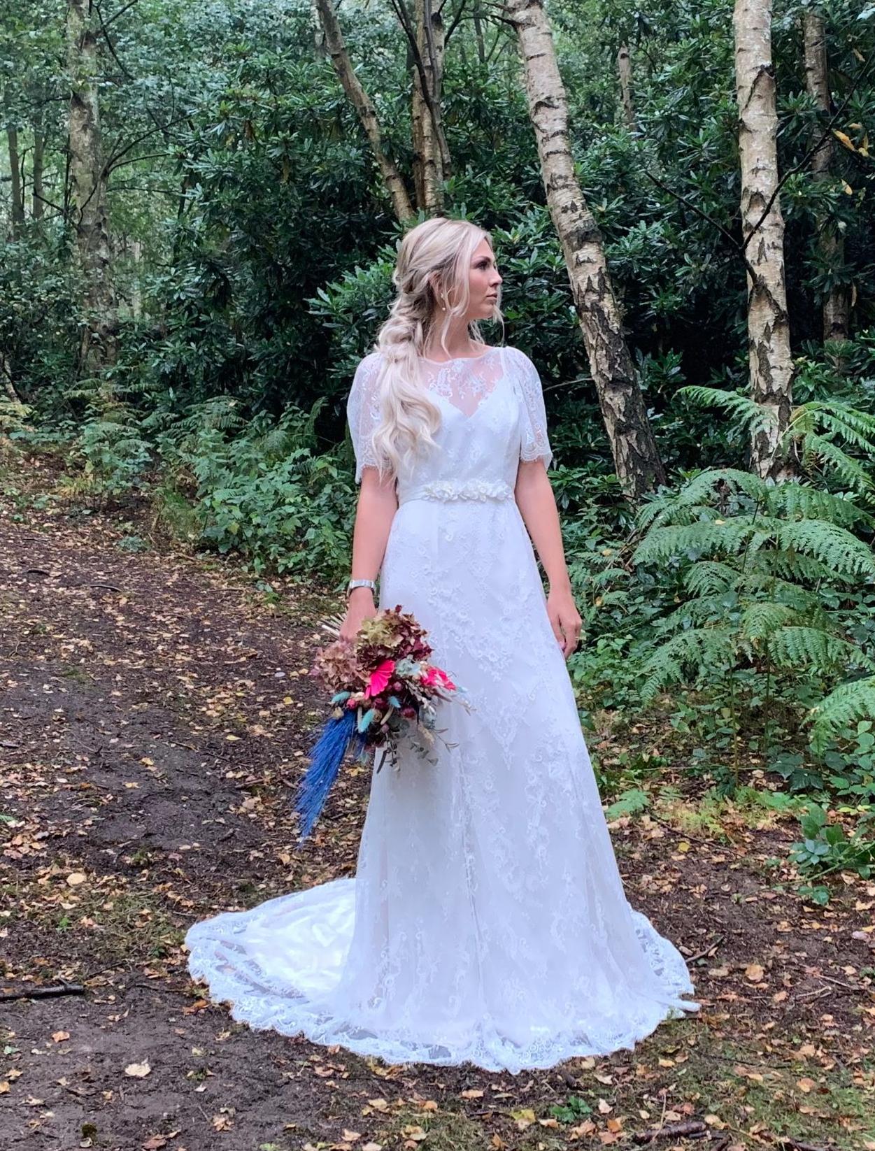 bespoke wedding gown dressmaking fabric