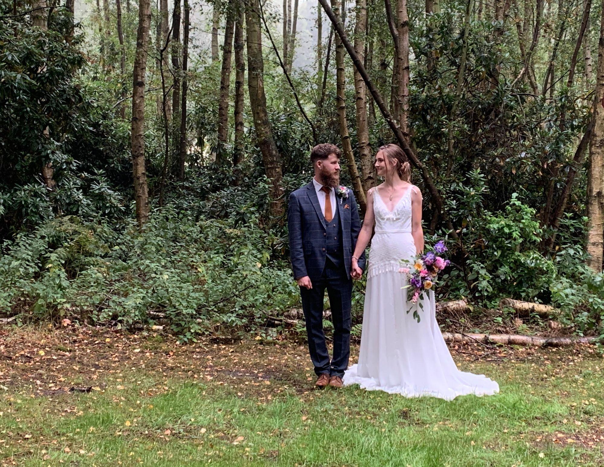 bespoke bride Beth and Marc Sherwood