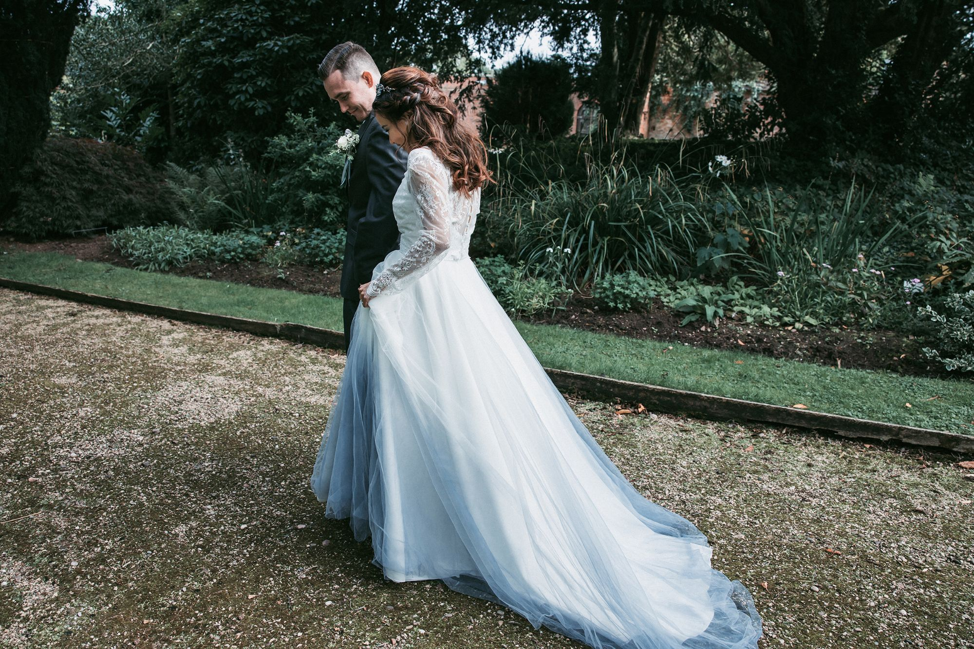 ombre bespoke wedding dress