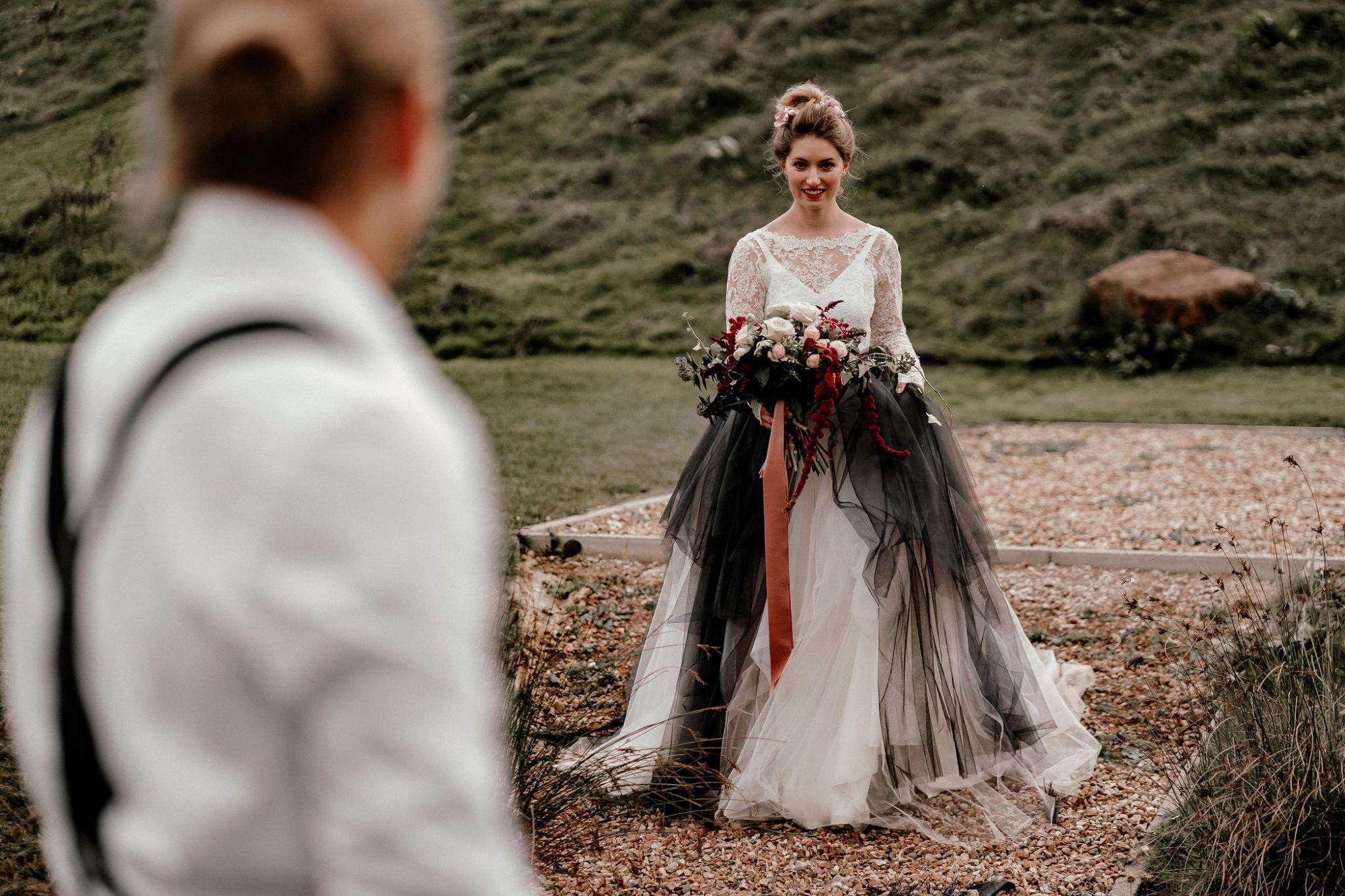 Black_tulle_alternative_wedding_dress