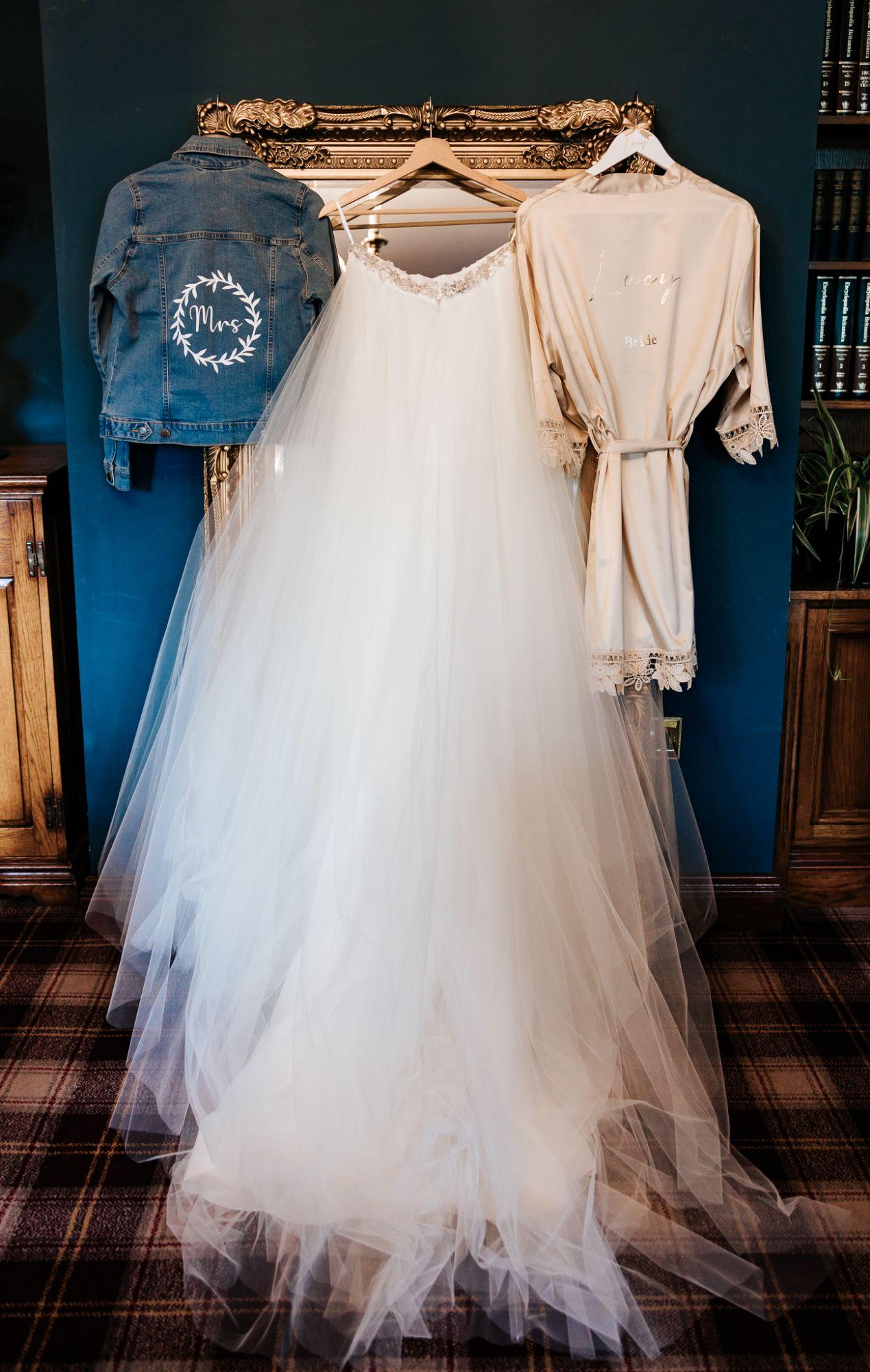 Ivory tulle bridal skirt alternative wedding dress