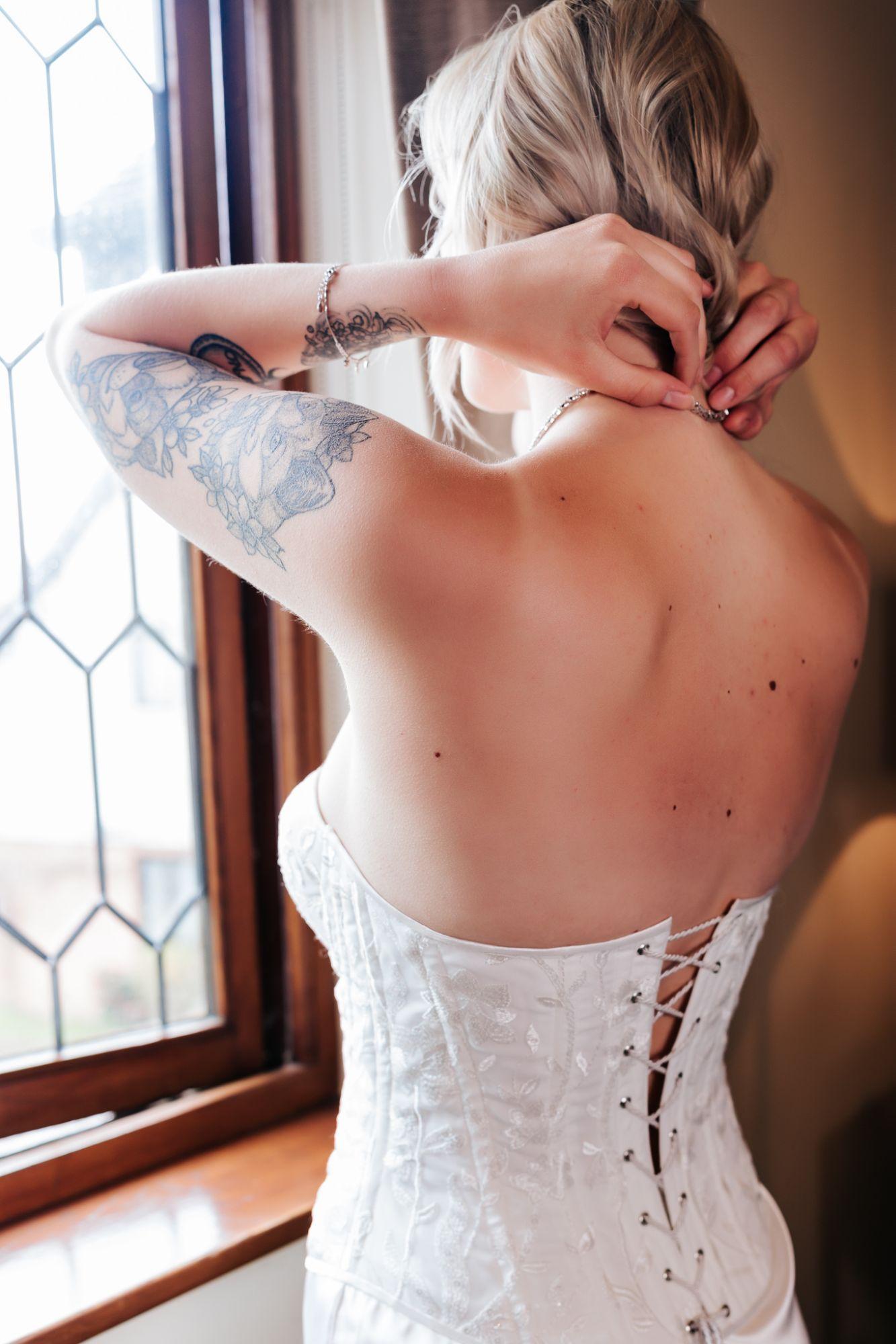 ivory corset wedding dress