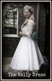 the Kelly tea length wedding dress