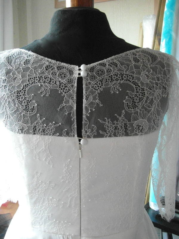 Kelly Tea length lace wedding dress