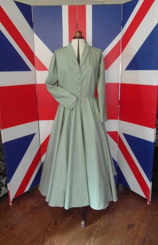 1950s custom shirtwaist dress