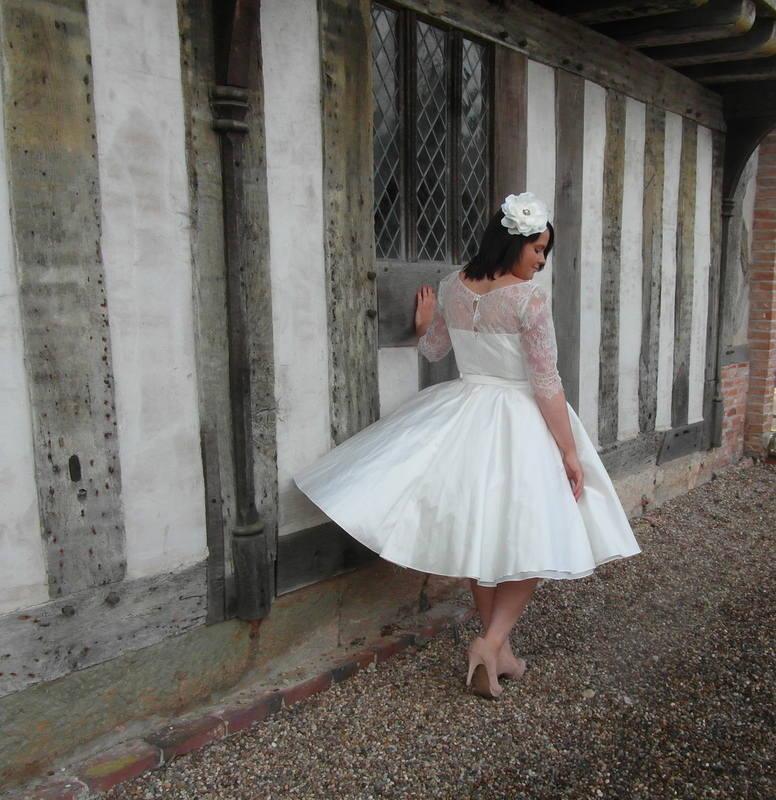 The Kelly 1950s tea length wedding dress