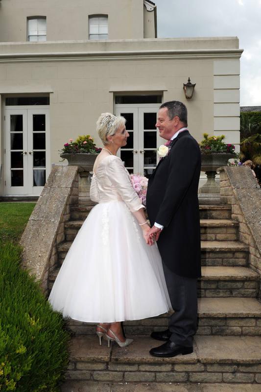 Tea Length wedding dress handmade