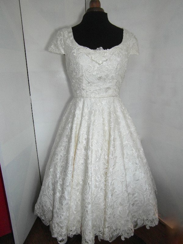 Tea Length wedding dress handmade