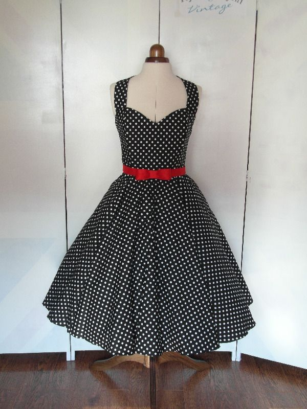 Spotty rockabilly bridesmaid dress