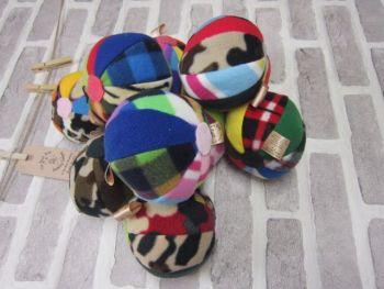 Handmade Posh Dog Toy - Multicolor harlequin balls