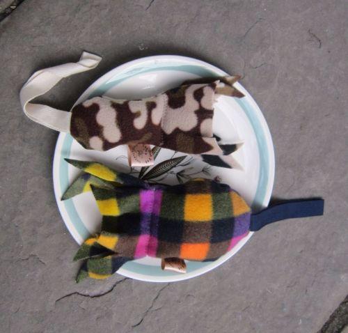 Handmade Posh Dog Toy - Fish tug toy - small size