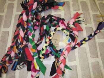 Handmade Posh Dog Toy - hand braided tug toy - small