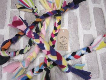 Handmade Posh Dog Toy - hand braided tug toy - medium