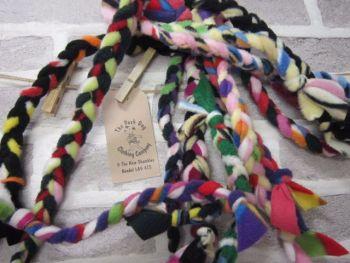 Handmade Posh Dog Toy - hand braided tug toy - large
