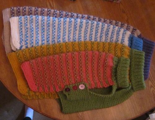 KP0103 - Posh Dog Clothing - Chunky Raised Chain Link Jumper knitting patte