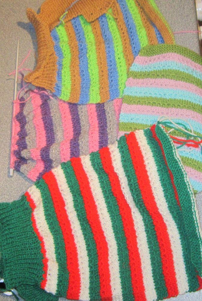 KP0102 - Posh Dog Clothing - Chain Link Stripes Jumper knitting pattern