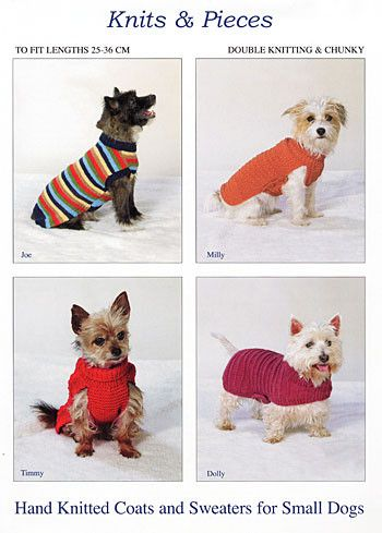 Knitting Pattern - Terrier sizes