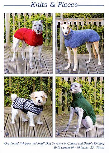 Knitting Pattern - greyhound / whippet / small dog