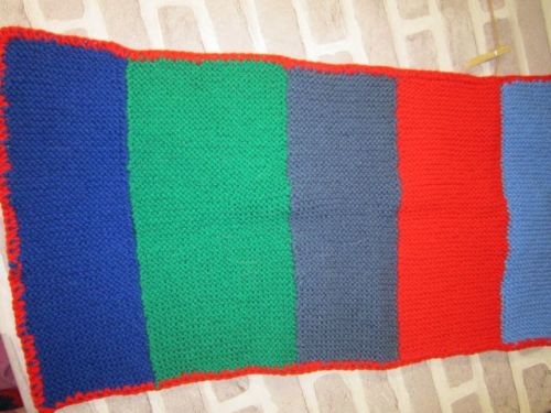 Handmade Posh Dog knitted blanket - 006 - small size