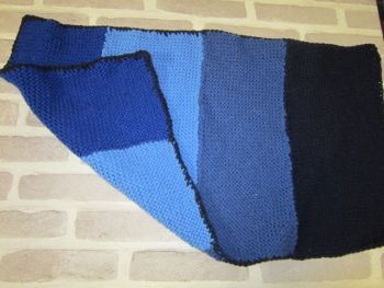 Handmade Posh Dog knitted blanket - 001 - small size *