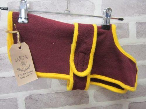 Handmade Posh Dog Fleece Coat - 004 - size S