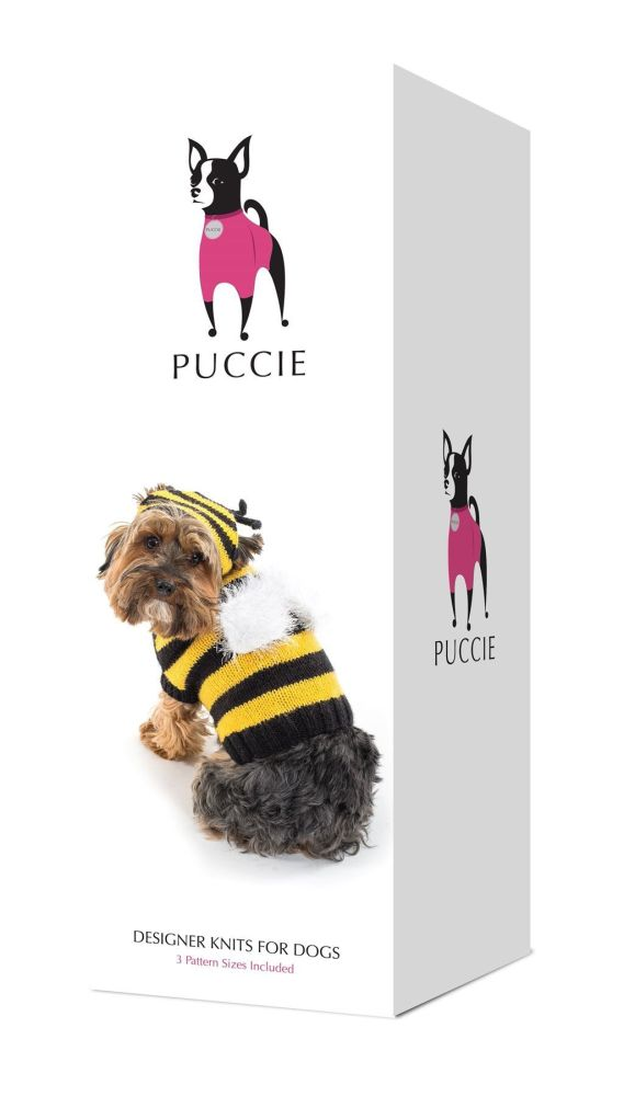 Puccie Designer Dog Coat - 'Bumble Bee' complete kit