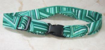 Handmade Posh Dog Collar 016 - adjustable fabric collar