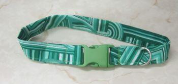 Handmade Posh Dog Collar 015 - Non-adjustable fabric style