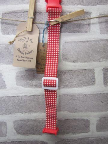 Handmade Posh Dog Collar 008 - adjustable fabric collar *