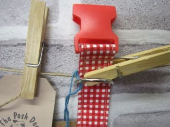 Handmade Posh Dog Collar 001 - adjustable fabric collar