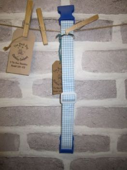 Handmade Posh Dog Collar 007 - adjustable fabric collar *