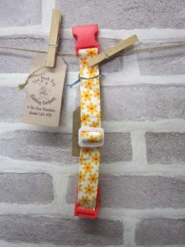 Handmade Posh Dog Collar 004 - adjustable fabric collar *